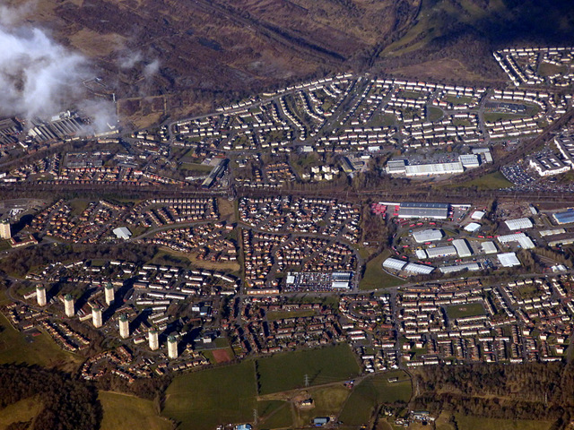 Wishaw from the air