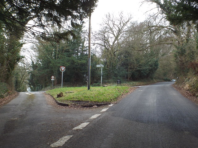 Road junction near Shoreham