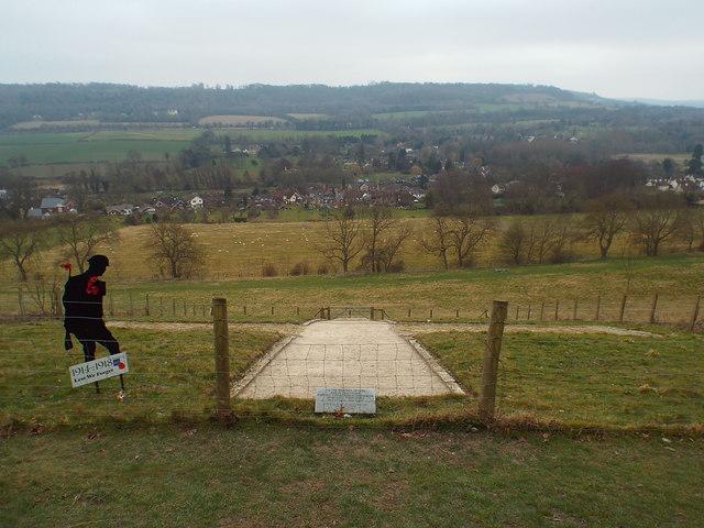 View at Shoreham Memorial Cross