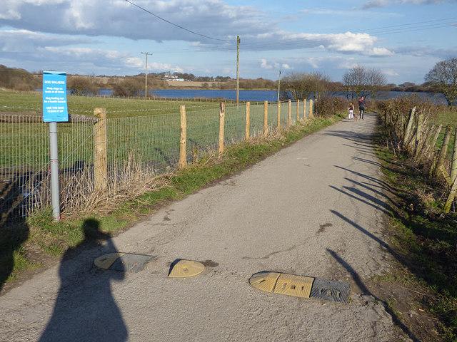 Ardsley Reservoir: access road