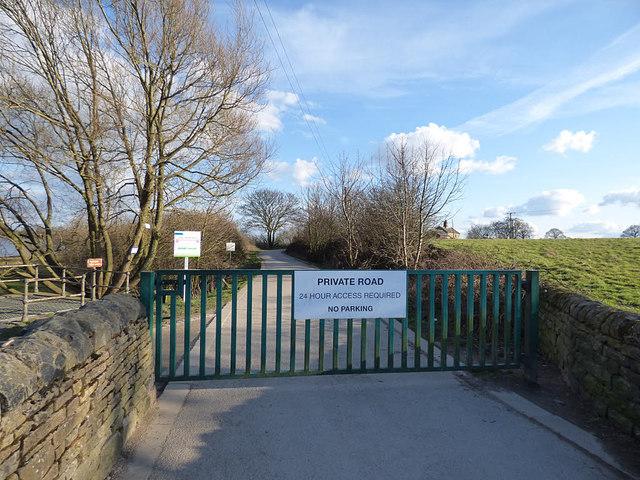 Ardsley Reservoir: access gate