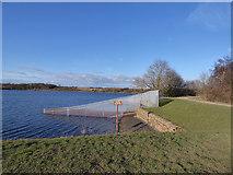 SE2924 : Ardsley Reservoir: fence round the overflow weir by Stephen Craven