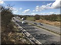 SJ7844 : M6 looking north-west near Madeley by Jonathan Hutchins