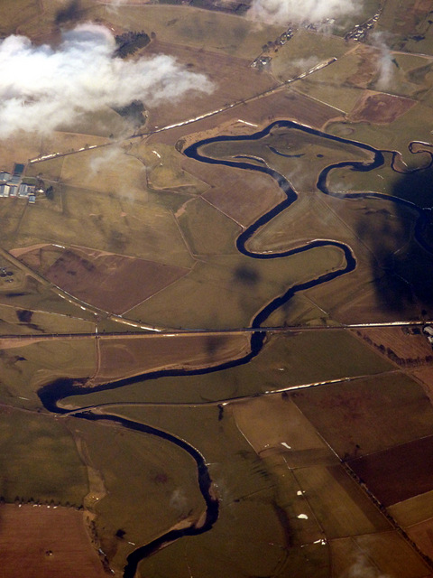 The Carstairs meanders from the air