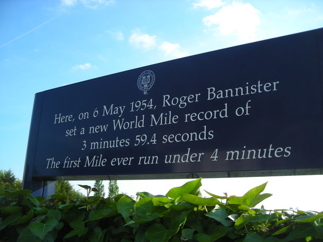Sign outside Iffley Road Track