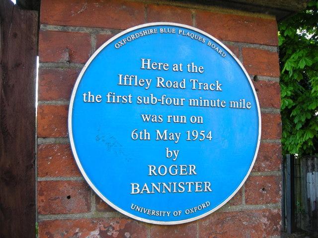 Roger Bannister blue plaque