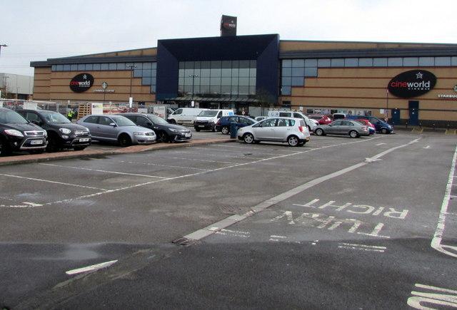 Cineworld Cinema in Newport Retail Park