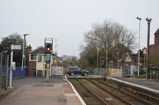 Northern end of Topsham Station