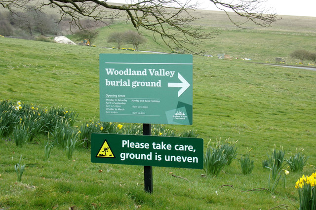 Lawn Memorial & Woodland Valley Natural Burial Ground signs