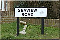 TQ3405 : Seaview Road sign by Adrian Cable