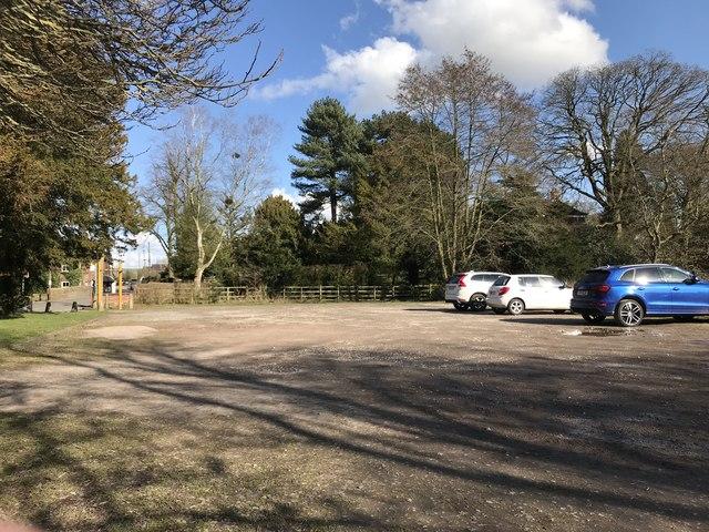 Car park opposite church, Madeley