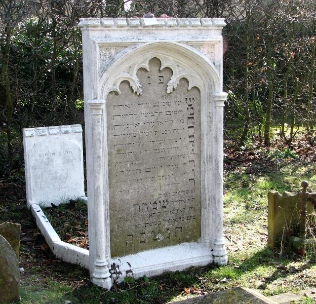 Matzevah in the Jewish burial ground