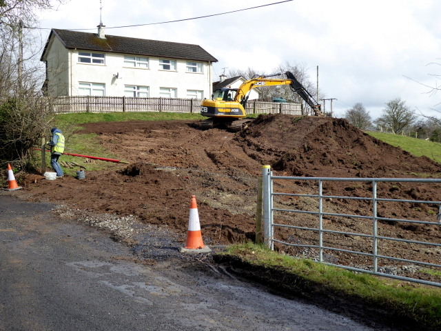 Sewer construction, Mullaghmore