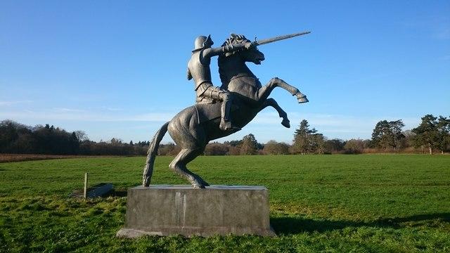 Horseman statue at Bromsden Farm