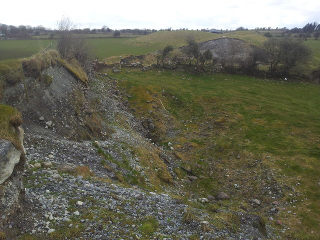 Esker quarried for sand at Temple Moyle, County Galway