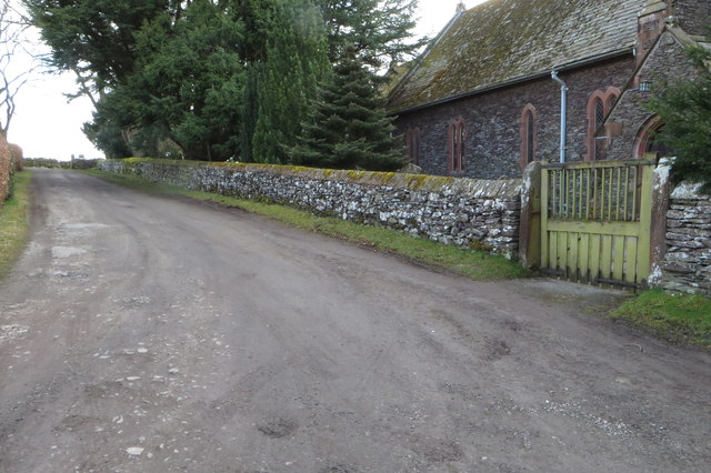 Farm lane by the parish church