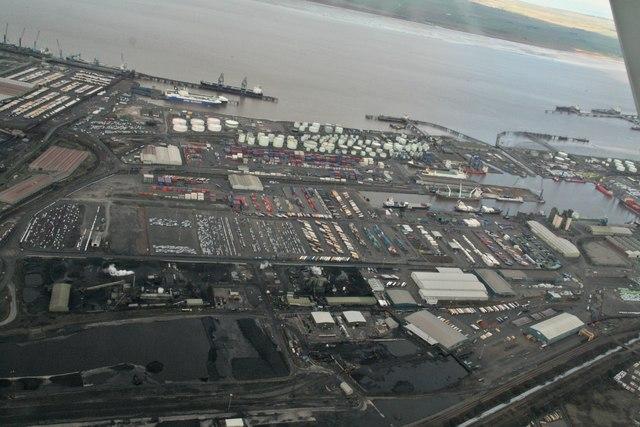 Immingham Docks: aerial 2018 (2)