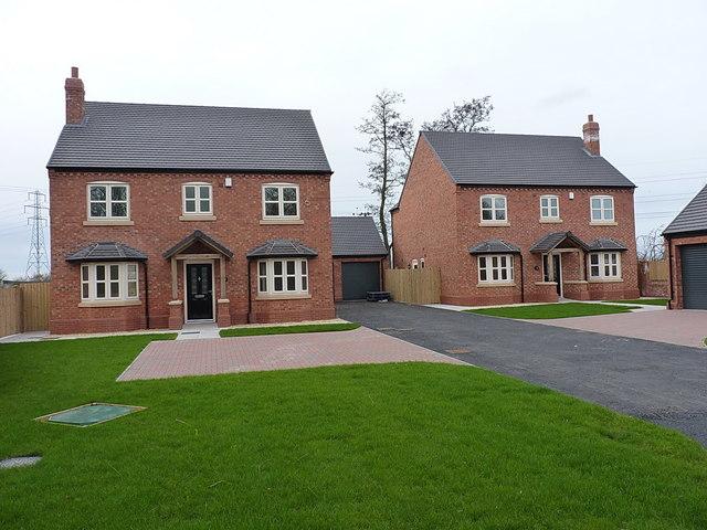 New build houses at Rushmoor