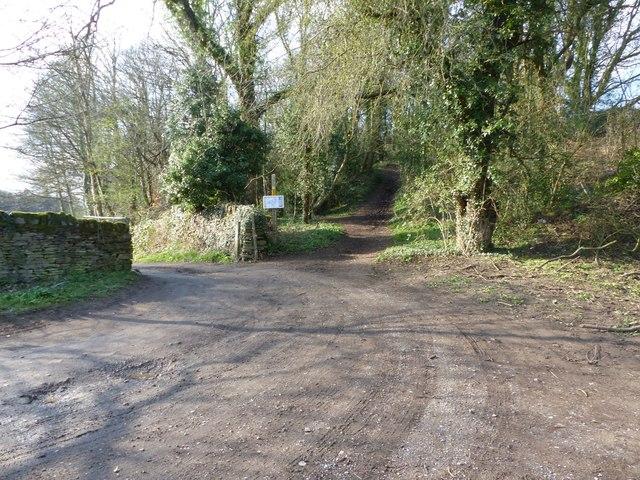 Start of Gateland Lane