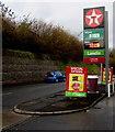 SS8984 : November 27th 2017 Texaco fuel prices, Maesteg Road, Tondu by Jaggery