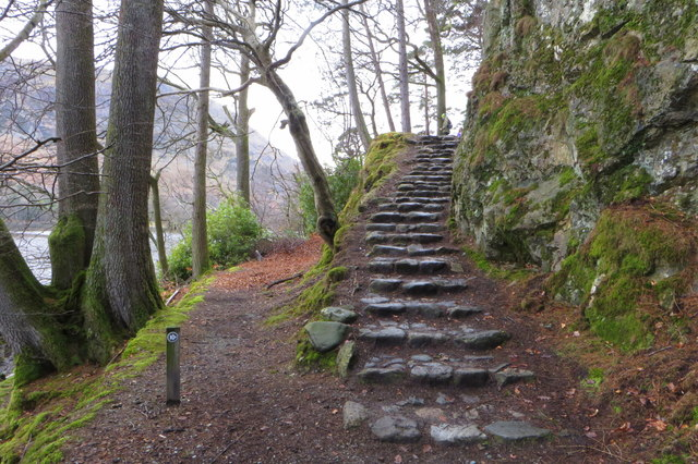 Steps on the Ullswater Way on the way to Glenridding