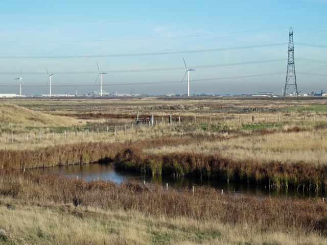 The northern part of Chetney Marshes