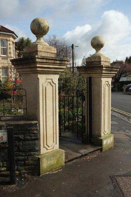 Gatepiers, Zetland Road, Bristol