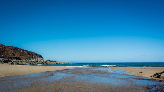 Low tide at Achininver beach