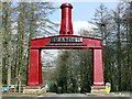 NZ2253 : Beamish Museum entrance arch by Graham Hogg