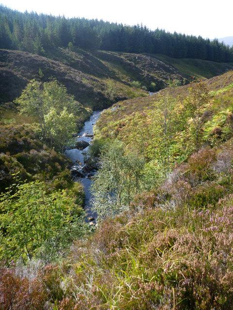 Allt a' Bhealaich Mhoir passes through Garbat Forest