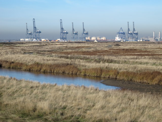 The northwestern part of Chetney Marshes