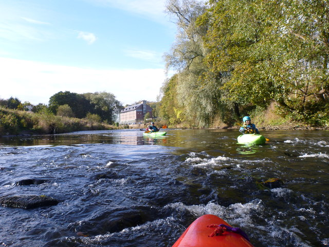 Starting the Durham to Finchale section of the River Wear in low water