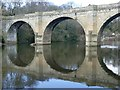 NZ2741 : Prebends Bridge reflected in the River Wear by Graham Hogg
