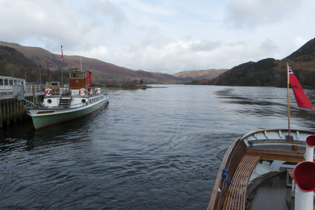 Lady of the Lake moored at Glenridding pier