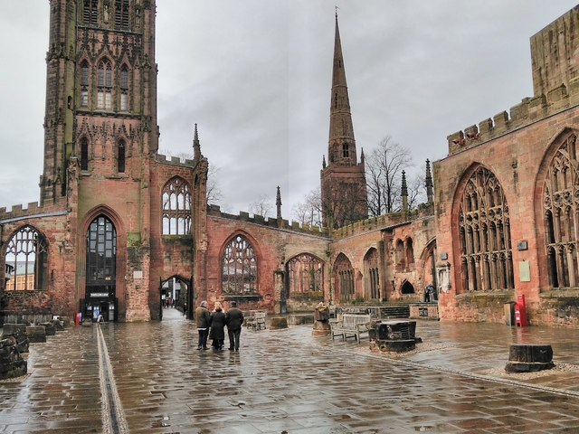 The ruins of Coventry Cathedral © Philip Halling cc-by-sa/2.0 :: Geograph  Britain and Ireland