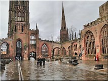 SP3378 : The ruins of Coventry Cathedral by Philip Halling