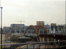 SJ8297 : Approaching the Irwell bridge on the Ordsall Chord by Stephen Craven