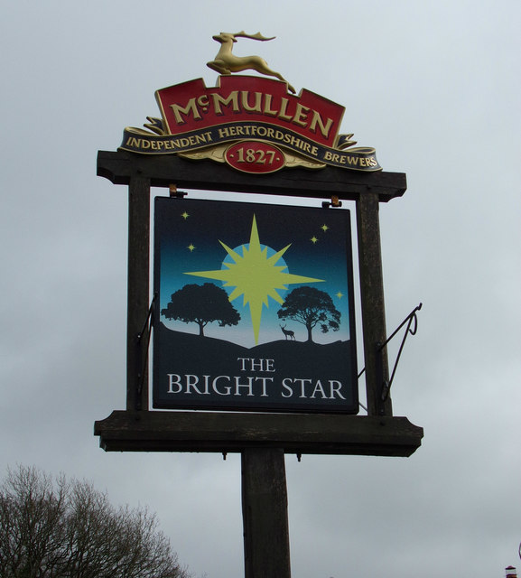 The Bright Star Public House sign