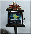 TL1419 : The Bright Star Public House sign by Adrian Cable