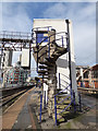 SJ8497 : Oxford Road station -goods lift tower (detail) by Stephen Craven