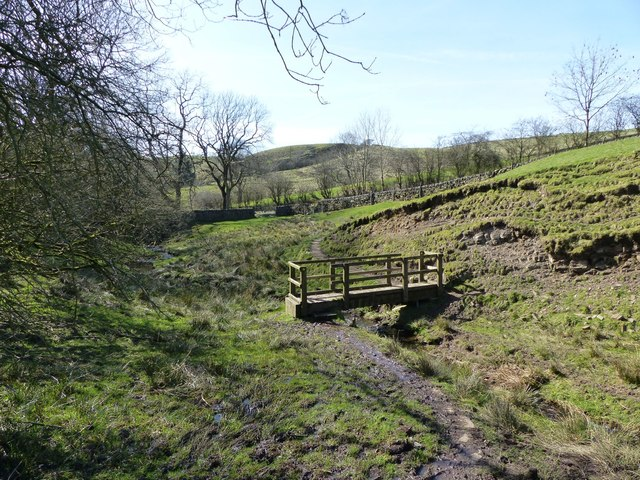 Footbridge over Tor Brook at Bottom-of-the-Oven