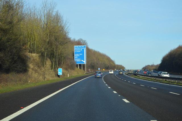 M25, approaching J4