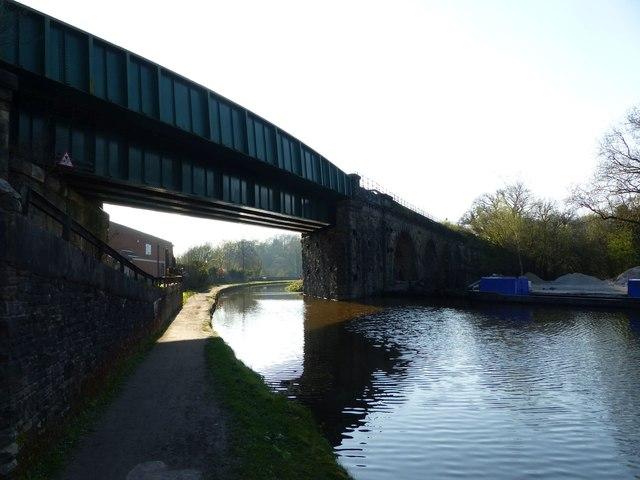 Railway bridge over Peak Forest Canal