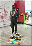 SJ3590 : Tributes to Ken Dodd at Liverpool Lime Street by Jonathan Hutchins