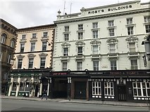 SJ3490 : Rigby's Buildings and the Saddle Inn by Jonathan Hutchins