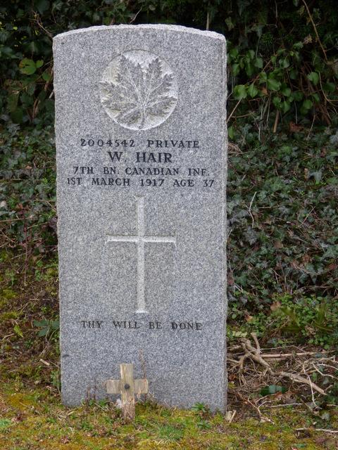 WWI Grave, Port Glasgow cemetery