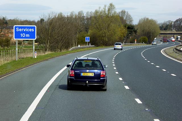 Northbound M6 near Linstock