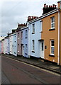 SX8960 : Colourful row of houses in Paignton by Jaggery