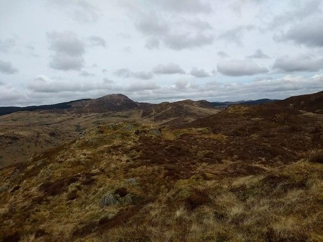 Looking north towards Dduallt