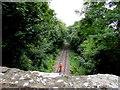 ST6882 : Railway worker on the line below Robin Hood Overbridge near Iron Acton by Jaggery